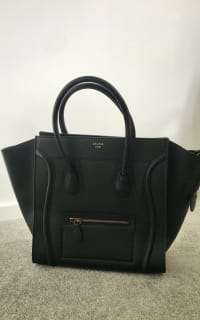 Celine Mini Luggage Tote Smooth Black 3 Preview Images