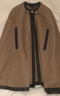Ralph Lauren Beige Cashmere & Leather Cape 2 Preview Images