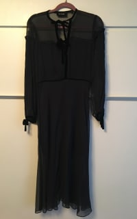 The Kooples Silk dress with velvet ribbons 5 Preview Images
