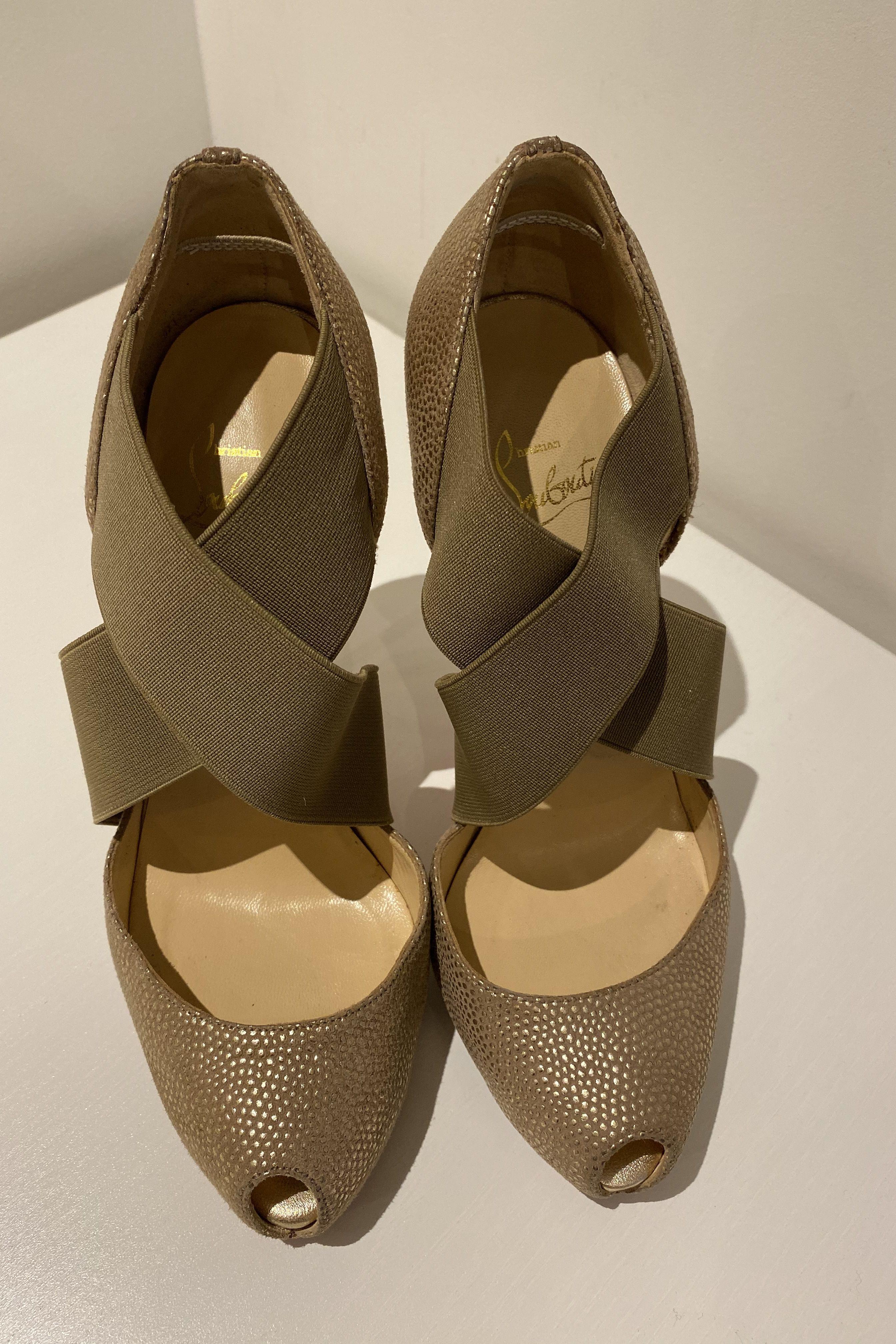 Christian Louboutin Big Dorcet 120 Gold Heels 3 Preview Images