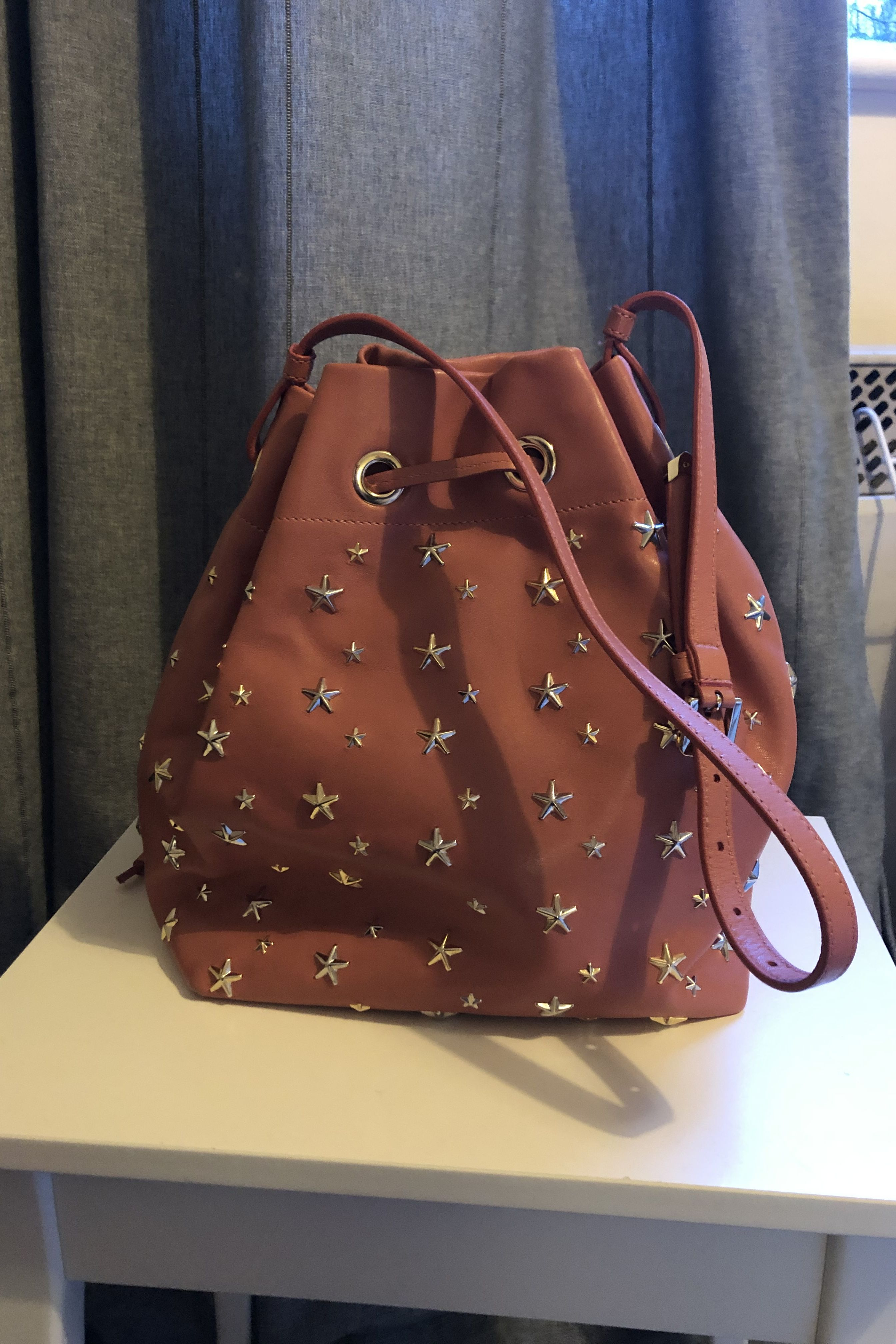 Jimmy Choo Juno Star Studded Bucket Bag 2 Preview Images