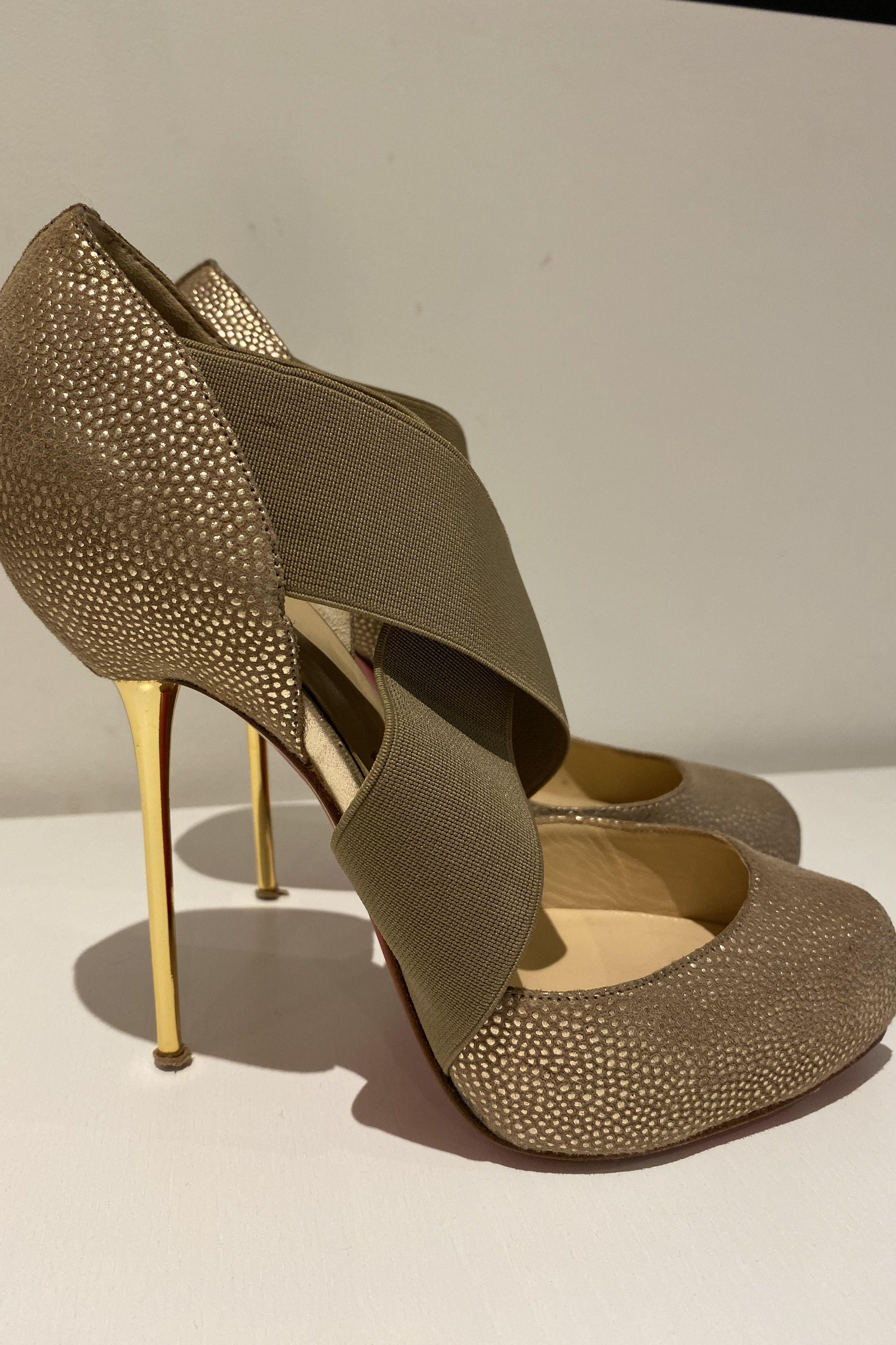 Christian Louboutin Big Dorcet 120 Gold Heels 5 Preview Images