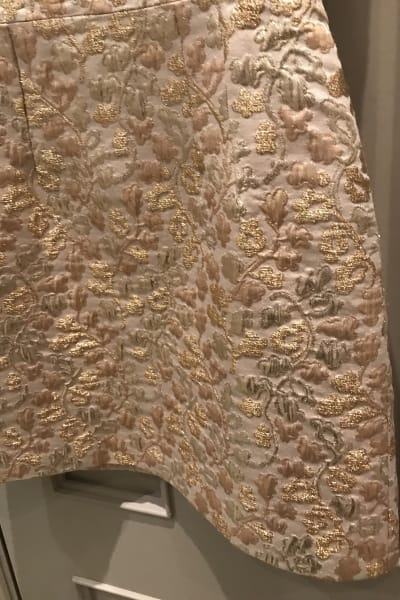 Dolce & Gabbana Metallic Embroidered Faille Dress  3