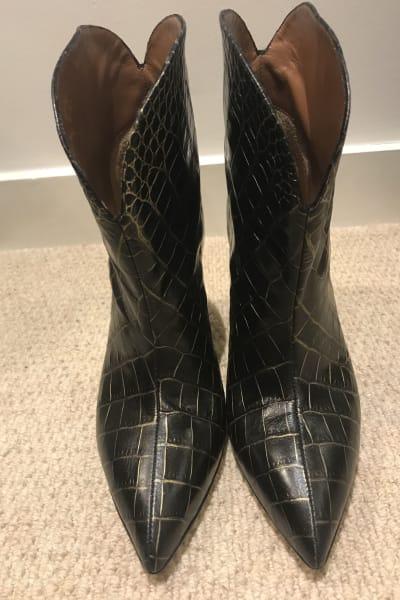 Paris Texas Crocodile Embossed Ankle Boots 2