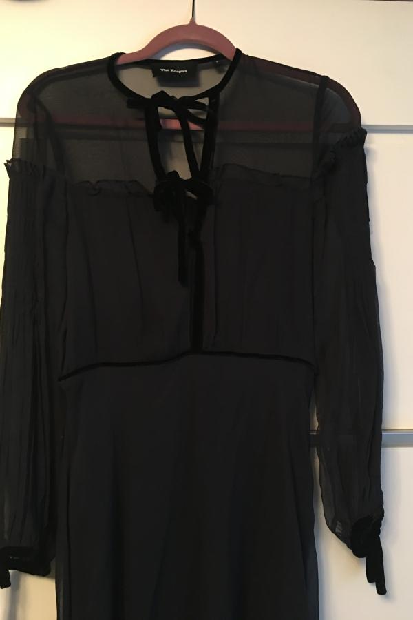 The Kooples Silk dress with velvet ribbons 2