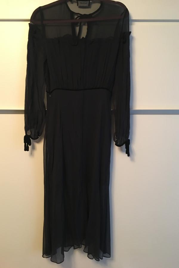 The Kooples Silk dress with velvet ribbons 3