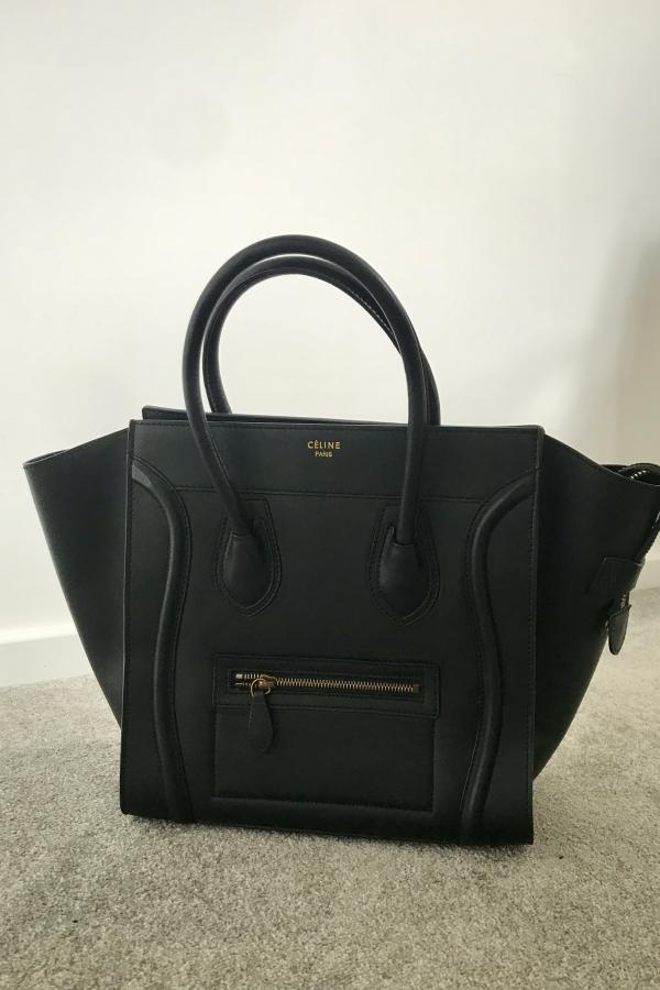 Celine Mini Luggage Tote Smooth Black 3