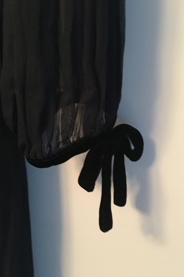 The Kooples Silk dress with velvet ribbons 4