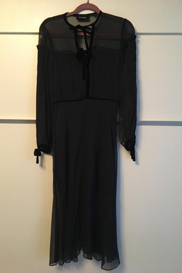 The Kooples Silk dress with velvet ribbons 5