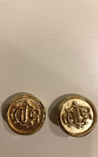 Christian Dior Gold logo Clip on Earrings 3 Preview Images