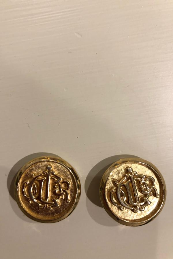 Christian Dior Gold logo Clip on Earrings 3