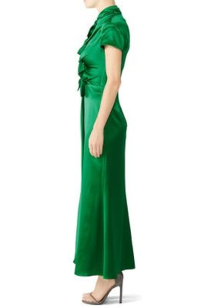 Saloni Green Kelly Dress 3