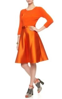 Carven Belted Orange Skirt  2 Preview Images