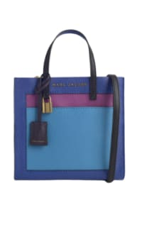 Marc Jacobs The Mini Grind Leather Bag in Academy Blue Preview Images