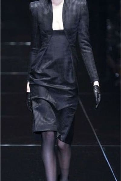 Gucci Houndstooth Open-Neck Dress 3