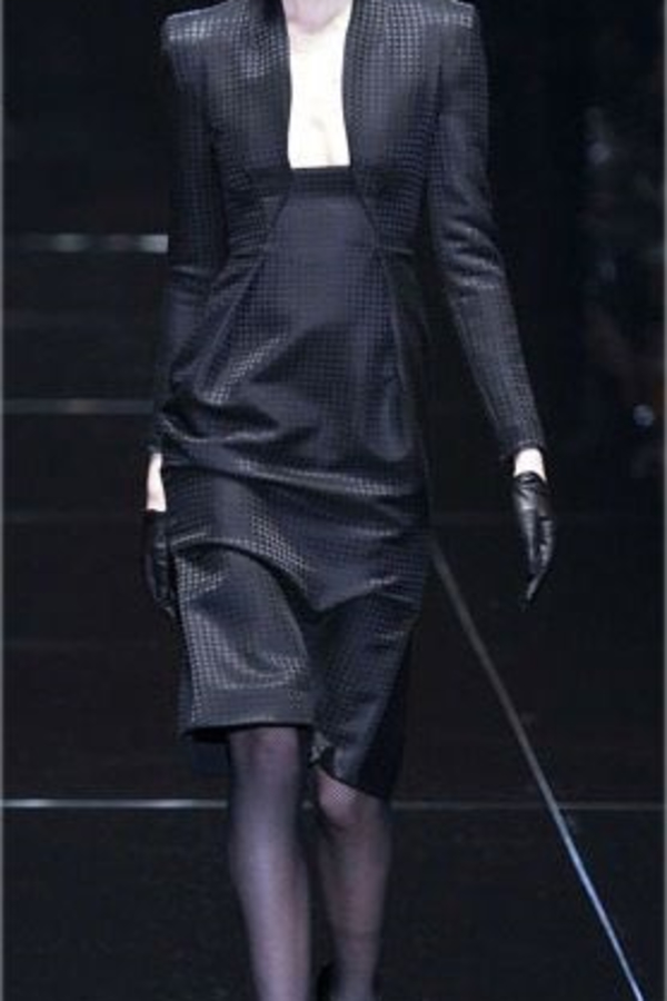 Gucci Houndstooth Open-Neck Dress 2 Preview Images