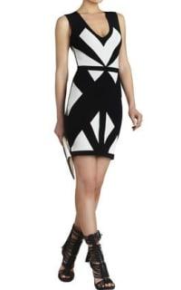 BCBGMAXAZRIA Evinna Geometric Jacquard Dress Preview Images