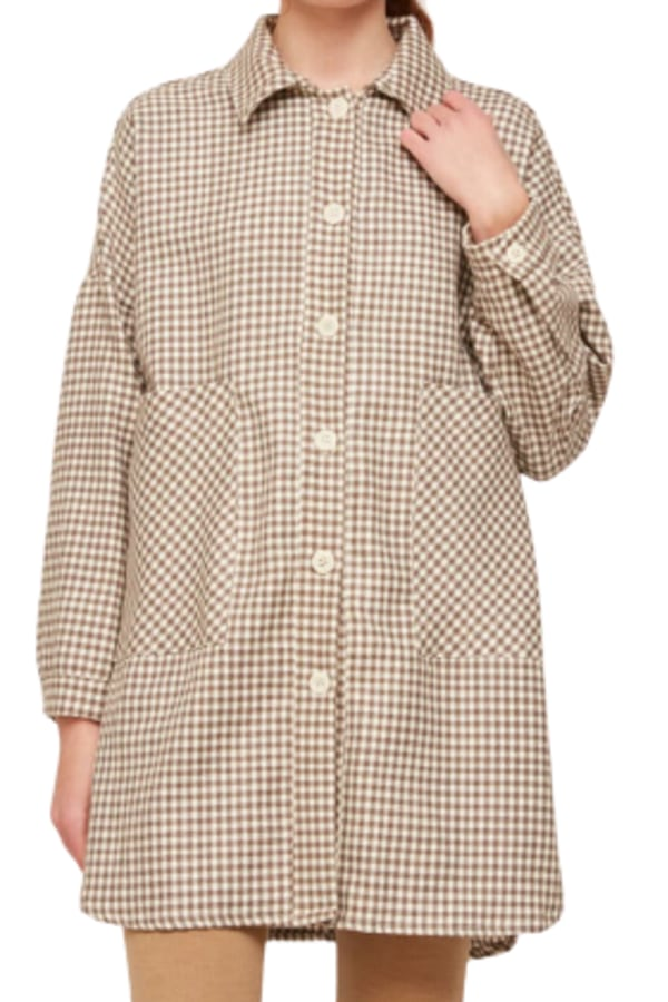 Image 1 of Rita Row check cotton shirt