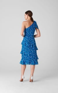 Whistles Almond Print Dobby Dress 3 Preview Images