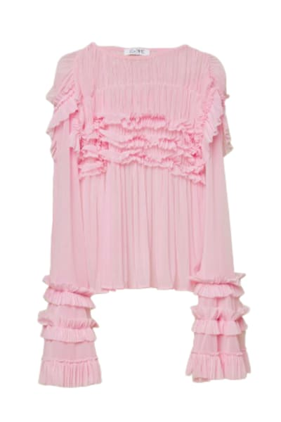 Esthe Full-sleeve ruffle blouse