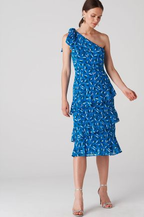 Whistles Almond Print Dobby Dress 2 Preview Images
