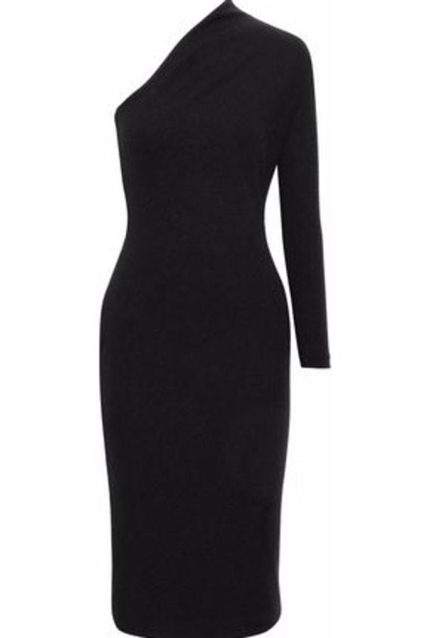 Image 6 of Solace London ambre one-shoulder midi dress