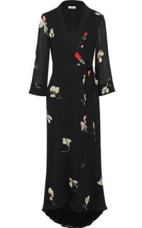 Ganni Lorita floral-print georgette maxi wrap dress Preview Images