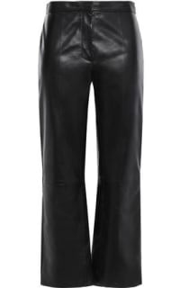Sandro Cropped Leather Trousers Preview Images