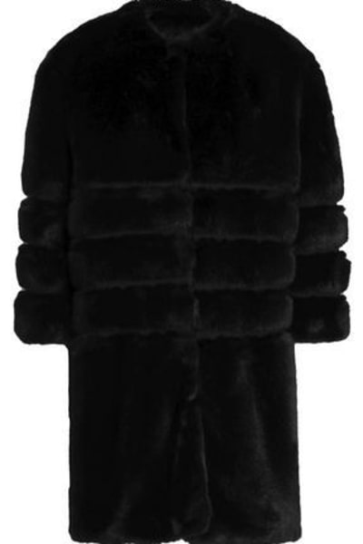 Ainea Quilted faux fur coat