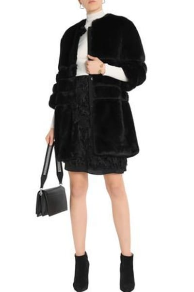 Ainea Quilted faux fur coat 4