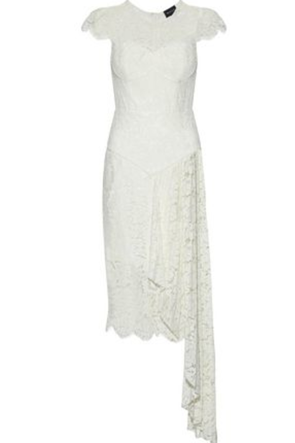 Milly Margaret Cap-Sleeve Floral Lace Cocktail Dress