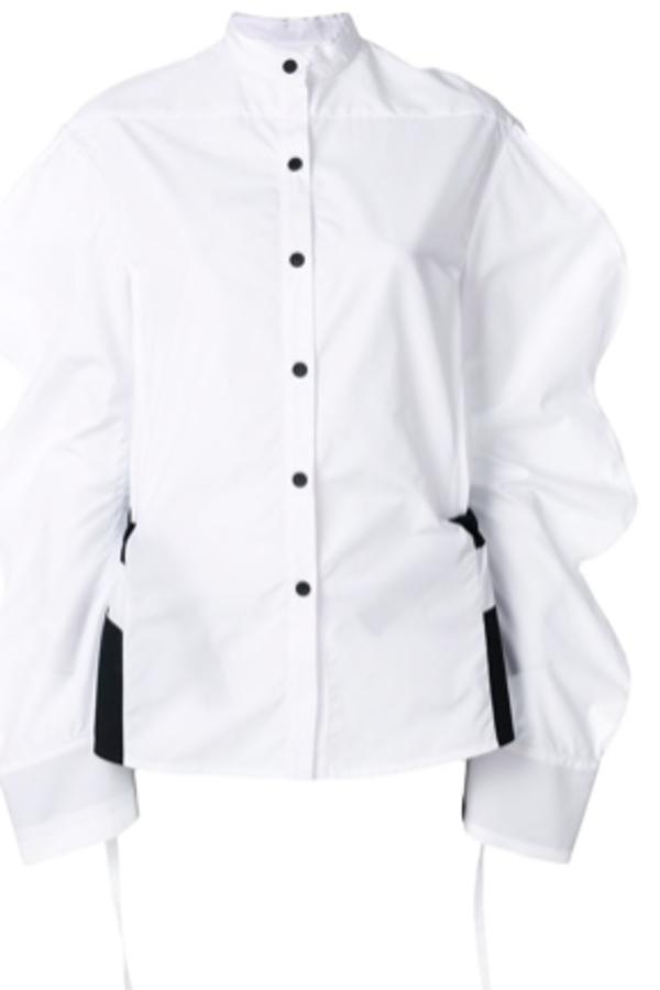 Eudon Choi Oversized sleeve shirt 4
