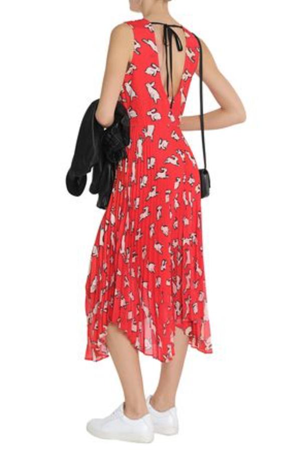 Markus Lupfer Red Midi Dress 3
