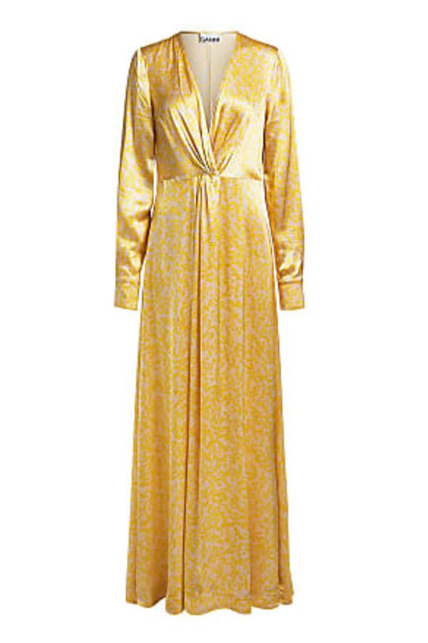 Ganni Cameron Floral-Print Satin Dress