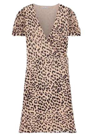 Alice + Olivia Rosette leopard-print dress Preview Images