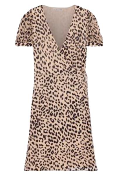 Alice + Olivia Rosette leopard-print dress
