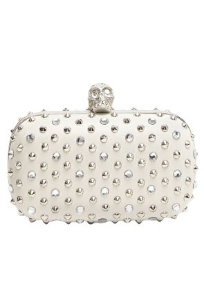 Alexander McQueen Stud Crystal Skull Clutch Preview Images