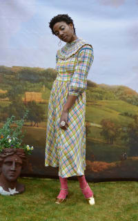 Olivia Annabelle Darcy Blouse in Regency Tartan 3 Preview Images