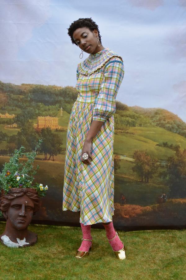 Olivia Annabelle Darcy Blouse in Regency Tartan 3