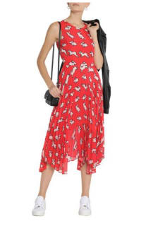 Markus Lupfer Red Midi Dress 4 Preview Images