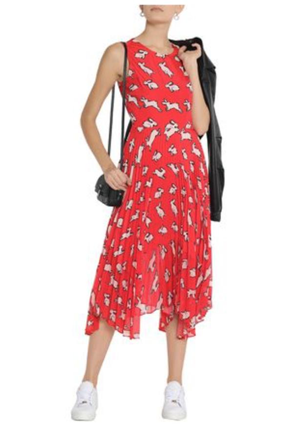 Markus Lupfer Red Midi Dress 4