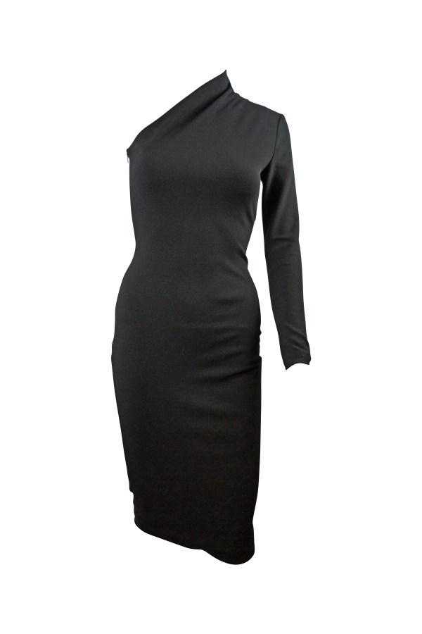 Image 3 of Solace London ambre one-shoulder midi dress