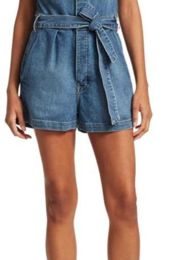 FRAME Pleat-Front Denim Coverall 2