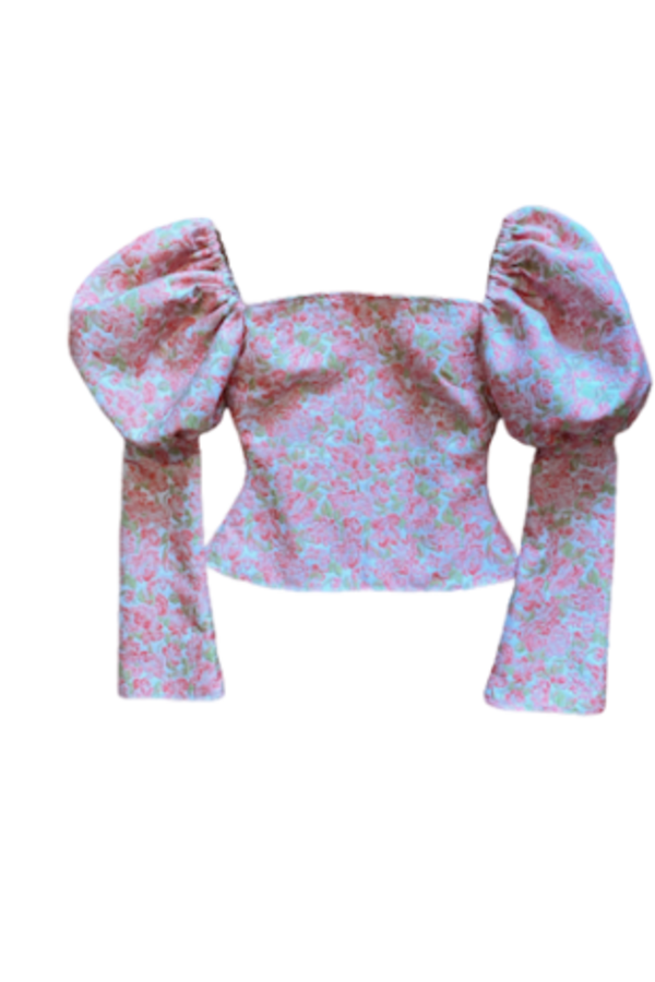 Image 5 of Olivia Rose The Label the ophelia top pink and green