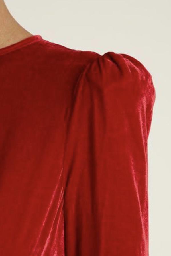 The Vampire's Wife Red velvet Maxi Dress 4