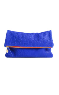 Clare V. Blue and red clutch Preview Images
