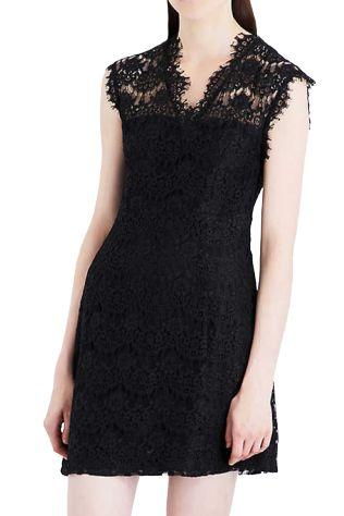 Claudie Pierlot Reset V-neck lace dress Preview Images