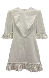 The Vampire's Wife White cotton mini dress Preview Images