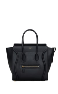 Celine Mini Luggage Tote Smooth Black Preview Images