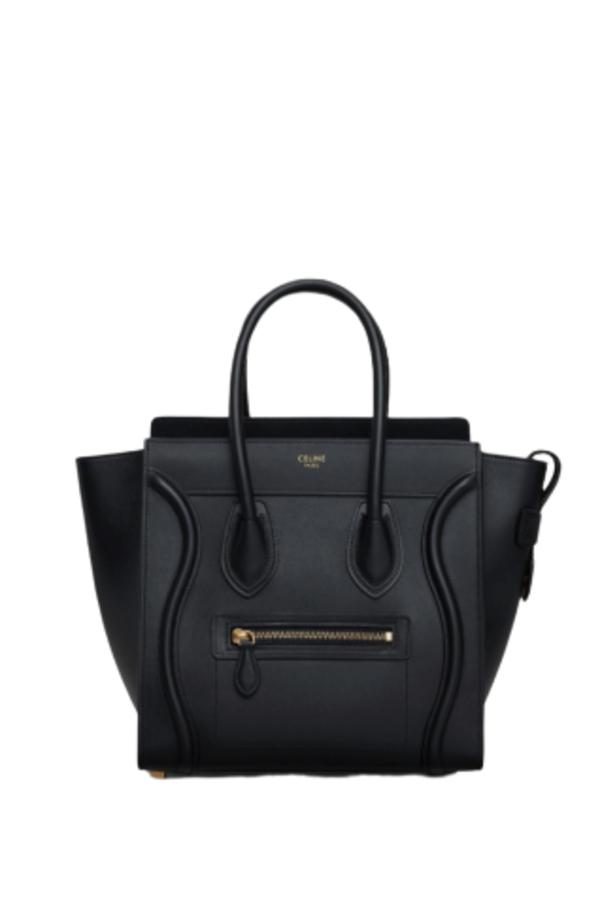 Celine Mini Luggage Tote Smooth Black